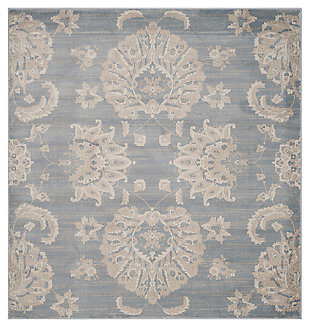 "Home Accents Paisley 6'7"" x 6'7"" Rug, , large"