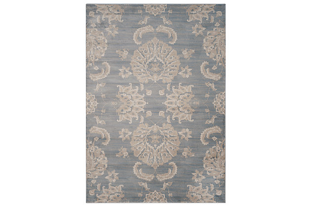 Home Accents Paisley 8' x 11' Rug, Light Blue, large