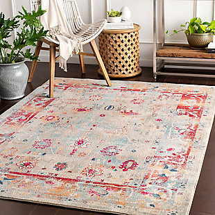Surya Wood Area Rug, Red, rollover