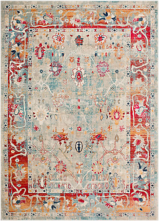 Surya Wood Area Rug, Red, large
