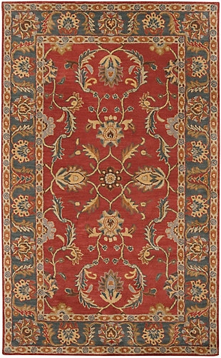 Surya Brooks Area Rug, Red, large