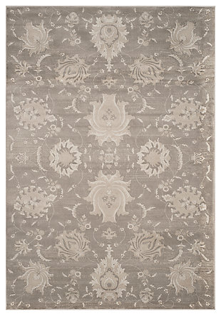 "Home Accents Paisley 6'7"" x 9'2"" Rug, Gray/Ivory, large"