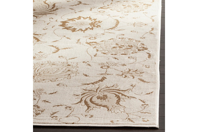 """Home Accents Paisley 4'  x 5'7"""" Rug, Cream, large"""