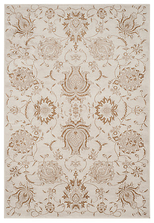 "Home Accents Paisley 4'  x 5'7"" Rug, Cream, large"