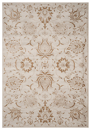 "Home Accents Paisley 6'7"" x 9'2"" Rug, Cream, large"