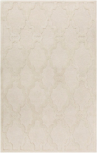 Surya Bennett Area Rug, White, large