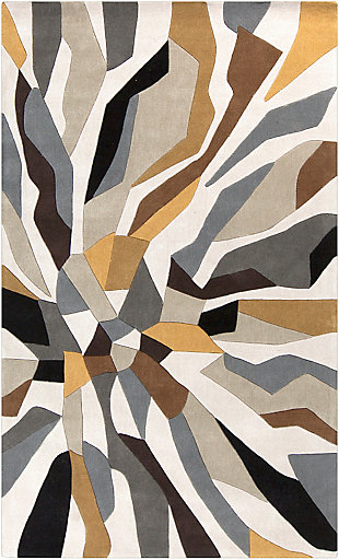 Surya Gray Area Rug, Beige, large