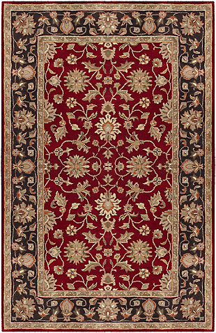 Surya Moore Area Rug, Red, large
