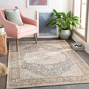Surya Thompson Area Rug, Gray, rollover