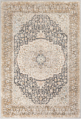 Surya Thompson Area Rug, Gray, large