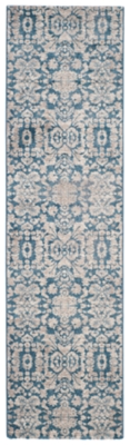 """Home Accents Sofia 2'2"""" x 6' Rug, Blue/Beige, large"""