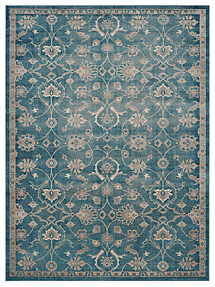 "Home Accents SOFIA 4' x 5'7"" Rug, Blue/Beige, large"