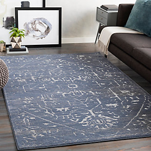 Surya Long Area Rug, Blue, rollover