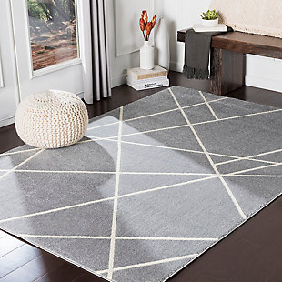 Surya Hall Area Rug, Gray, rollover