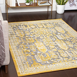 Surya Powell Area Rug, Yellow, rollover