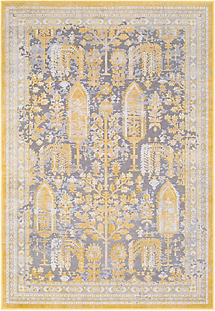 Surya Powell Area Rug, Yellow, large
