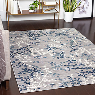 Surya Adams Area Rug, Blue, rollover