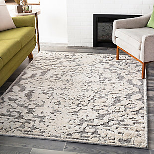 Surya Mitchell Area Rug, Gray, rollover