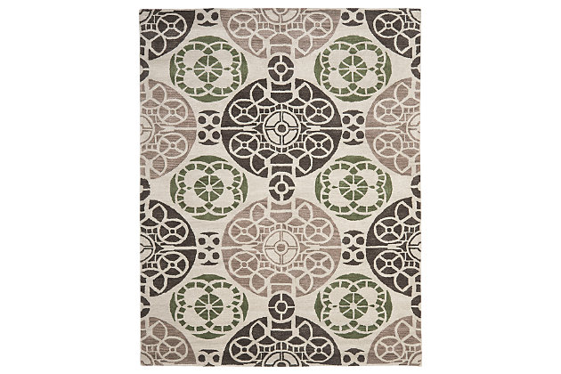Home Accents WYNDHAM 8' x 10' Rug, Ivory/Brown, large