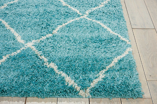 Home Accents Brisbane  5' x 7' Rug, Aqua, large