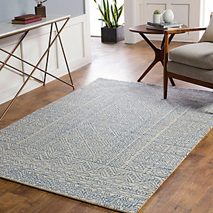 Surya Evans Area Rug, Blue, large