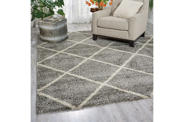 "Home Accents Brisbane  8'2"" x 10' Rug, Ash, large"