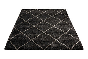 Home Accents Brisbane  5' x 7' Rug, Charcoal, large