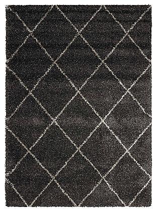 Nourison Brisbane 5' X 7' Rug, Charcoal, large