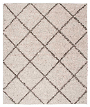 "Home Accents Brisbane  8'2"" x 10' Rug, Cream, large"