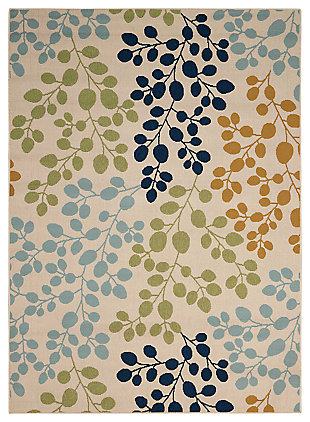 "Home Accents Caribbean 5'3"" x 7'5"" Indoor/Outdoor Rug, Ivory, large"