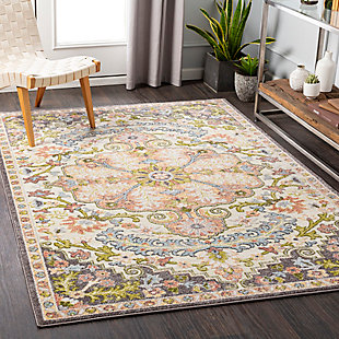 Surya Edwards Area Rug, Gray, rollover
