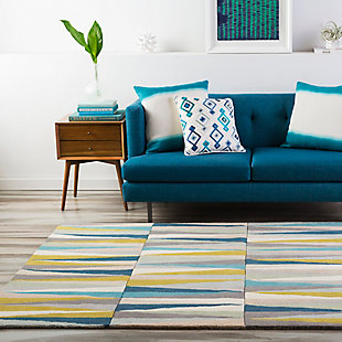Surya Fisher Area Rug, Blue, rollover