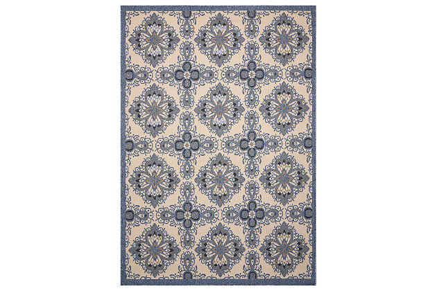 "Home Accents Caribbean  5'3"" x 7'5"" Indoor/Outdoor Rug, , large"