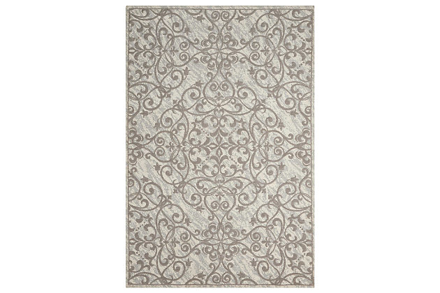 Home Accents Damask 5 X 7 Rug Ashley Furniture