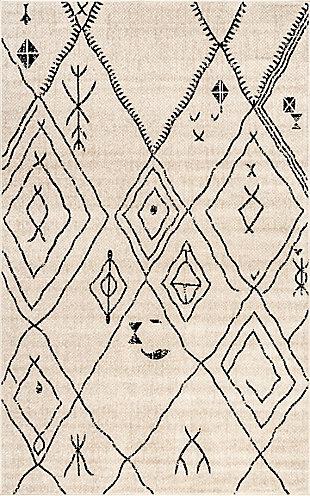 "NuLoom Luciana Modern Tribal 5' 3"" x 7' 6"" Area Rug, Beige, large"