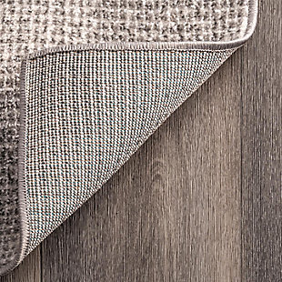 """NuLoom Maci Abstract Cubism 7' 10"""" x 10' Area Rug, Gray, large"""
