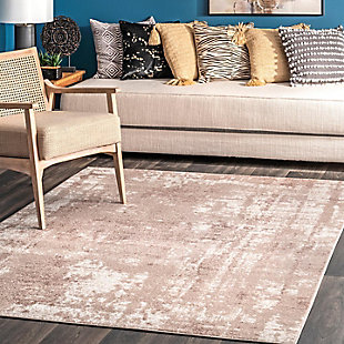 "NuLoom Margot Strained Abstract 5' 3"" x 7' 6"" Area Rug, Beige, rollover"