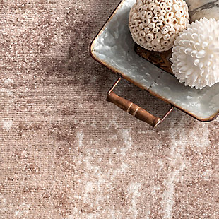"""NuLoom Margot Strained Abstract 5' 3"""" x 7' 6"""" Area Rug, Beige, large"""