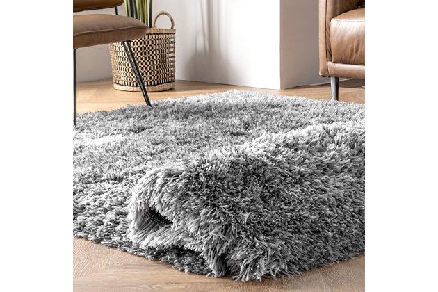 NuLoom Hand Tufted Kristan Shag 5' x 8' Area Rug, Gray, large