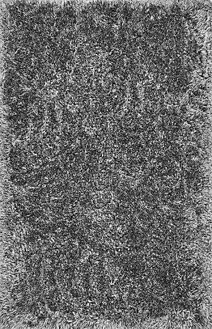 "NuLoom Hand Tufted Kristan Shag 7' 6"" x 9' 6"" Area Rug, Gray, large"