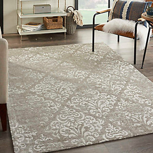 Home Accents Damask 5' x 7' Rug, Gray, rollover