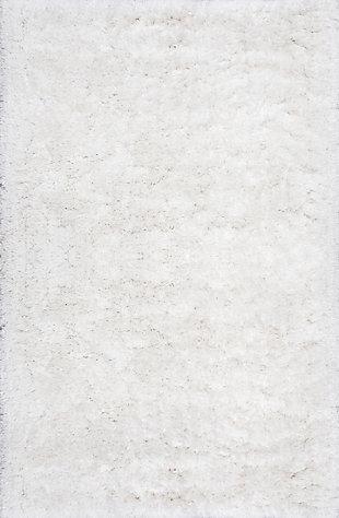 NuLoom Hand Tufted Kristan Shag 5' x 8' Area Rug, Ivory, large