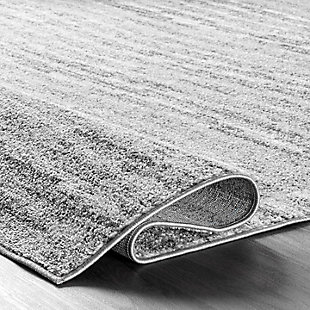 NuLoom Sherill Ripple Waves 5' x 8' Area Rug, Gray, large