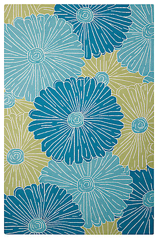 "Home Accents Fantasy 5' x 7'6"" Rug, Seafoam, large"