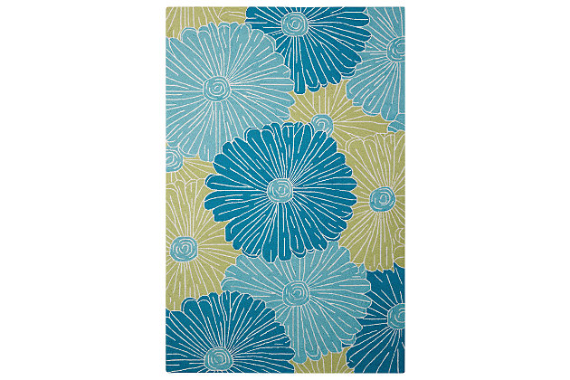 "Home Accents Fantasy 8' x 10'6"" Rug, Seafoam, large"