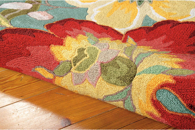 "Home Accents Fantasy 5' x 7'6"" Rug, Multi, large"