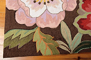 "Home Accents Fantasy 5' x 7'6"" Rug, Chocolate, rollover"