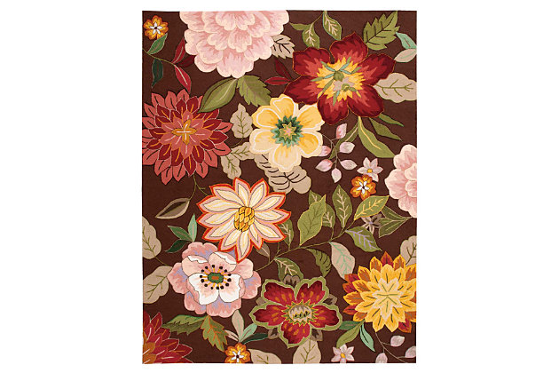 """Home Accents Fantasy 8' x 10'6"""" Rug, Chocolate, large"""
