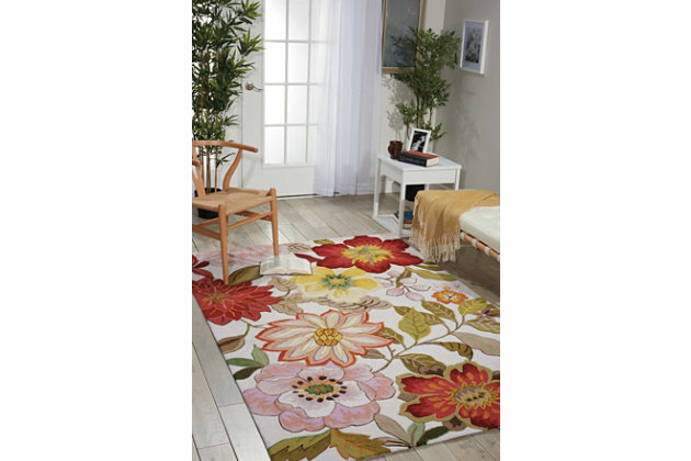 "Home Accents Fantasy 5' x 7'6"" Rug, Ivory, large"