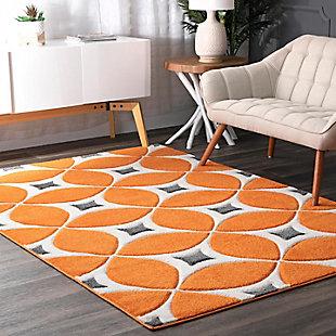NuLoom Hand Tufted Gabriela 5' x 8' Area Rug, Deep Orange, large